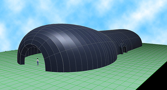 TouchCAD inflatable tent from Lundstrom Design