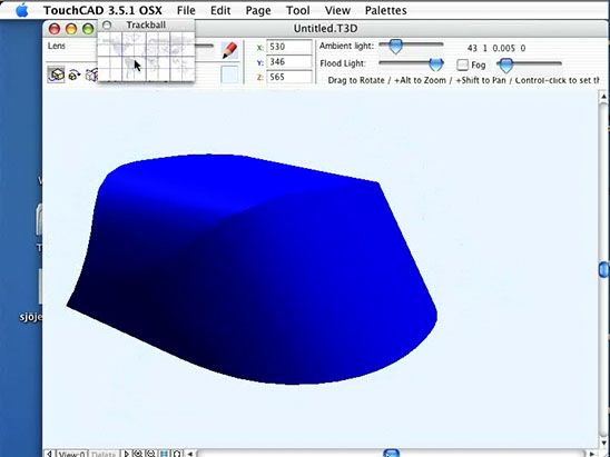 TouchCAD boat hood